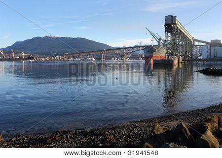 Burrard Inlet Grain Elevator, Vancouver