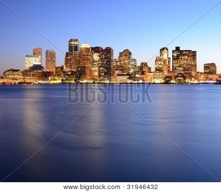 Financial District of Boston, Massachusetts.