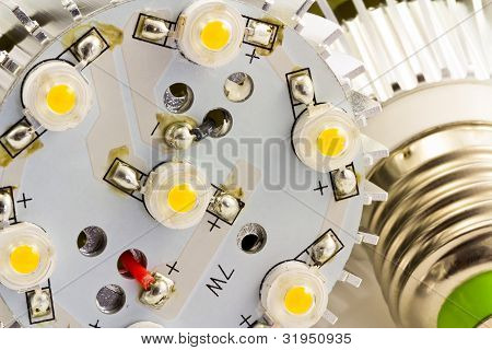 Detail Of Led Light Bulbs E27 With 1 Watts Smd Chips Without Cover Glass