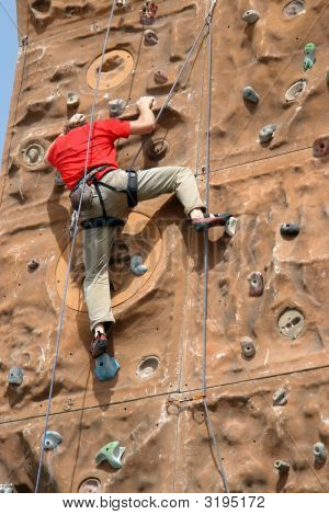 Climber In Action