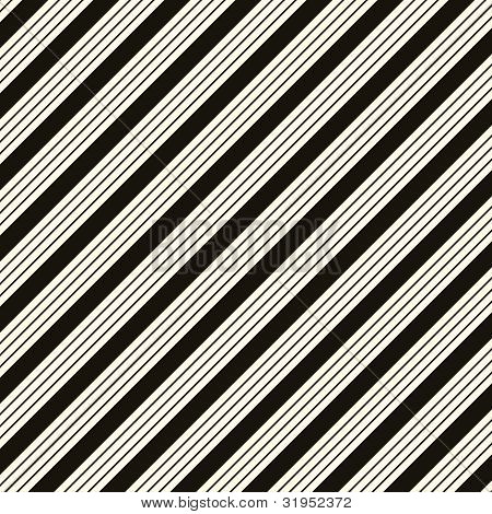 Thick White & Black Diagonal Stripe Paper