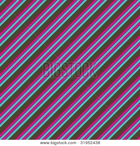 Pink Blue & Brown Diagonal Stripe Paper