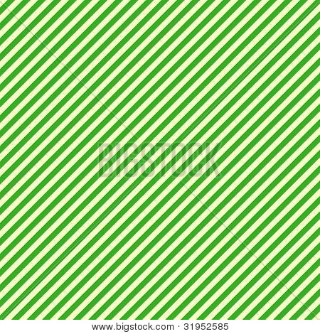 White & Green Diagonal Stripe Paper