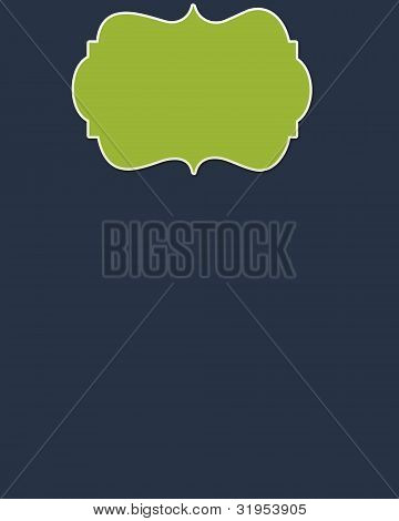 Navy Background & Lime Header