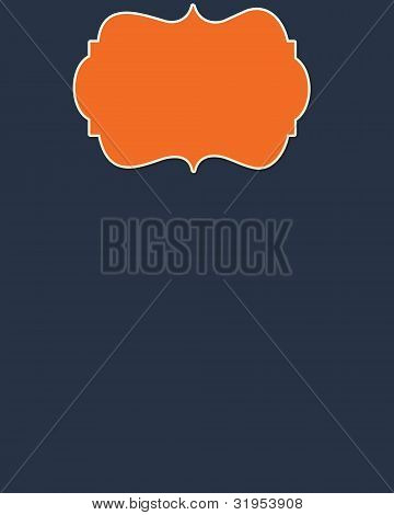 Navy Background & Orange Header