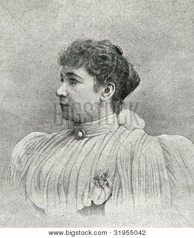 Mary Kamensky - Russian opera singer (mezzo-soprano). Autotype by