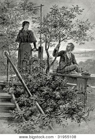 Illustration to novel
