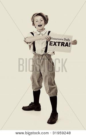 vintage newsboy