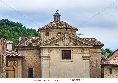 Oratory of Vigoleno. Emilia-Romagna. Italy.