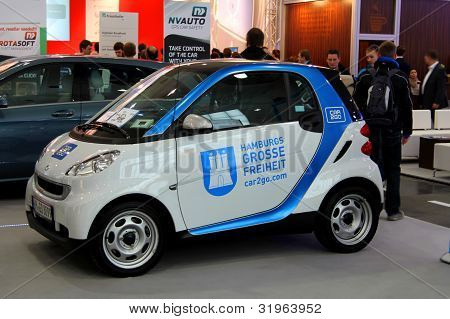 Hannover, Germany - March 10: Hamburg's Car For Rent On March 10, 2012 At Cebit Computer Expo, Hanno