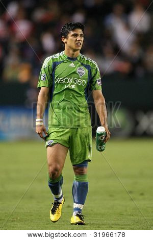 CARSON, CA. - AUG 14: Seattle Sounders F (17) FREDY MONTERO during the Chivas USA vs Seattle Sounders game on Aug 14 2010 at the Home Depot Center in Carson.