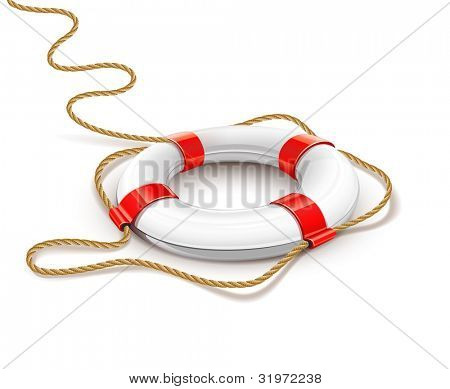 Rettung Ring für schnelle Hilfe-Vektor-Illustration isolated on white Background. eps10. mesh Farbverlauf uns