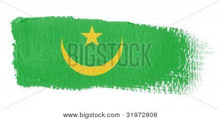 Brushstroke Flag Mauritania