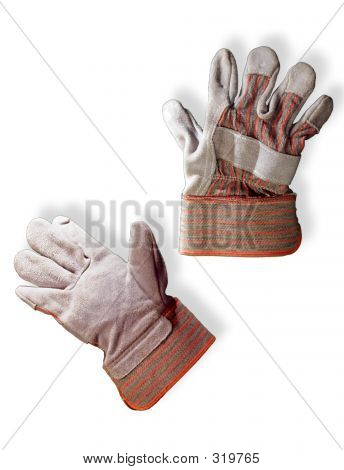 Signs And Symbols Of Work And Labor - Work Gloves