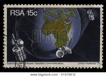 South Africa Postage Stamp Satellite Communication 1975