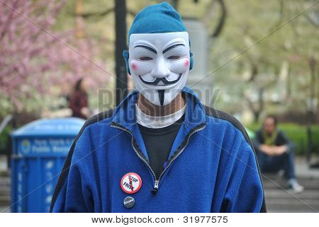 anonymous, at occupy wall street
