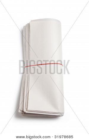 Blank Newspaper Roll