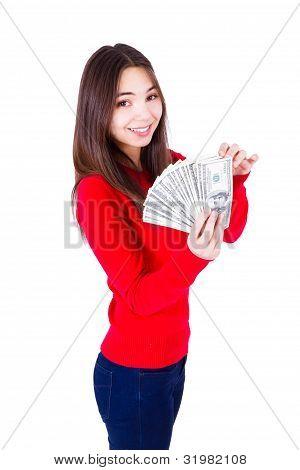 Frau und ihr Geld