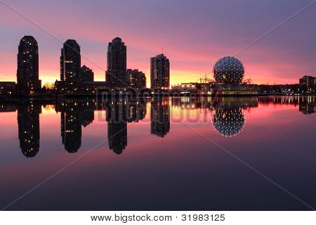 False Creek, Dawn Refelection, Vancouver