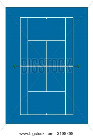 Tennis Court - Hard Surface - Overhead View