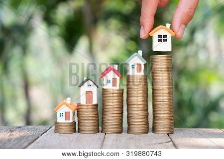 poster of Money Savings, Investment, Making Money For Future, Financial Wealth Management Concept.woman's Hand