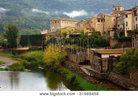 medieval town of Besalu, Catalonia. Spain