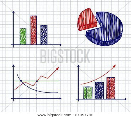 Business ink doodles on paper.