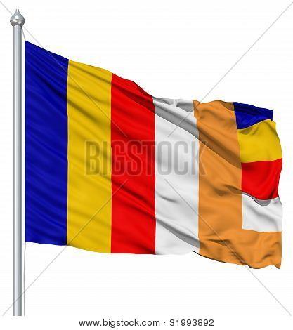Waving Flag of Budhist