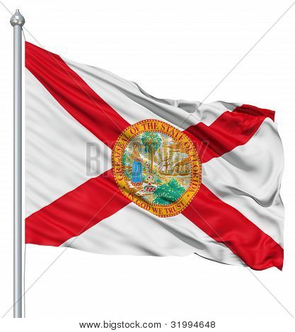 Waving Flag of USA state Florida