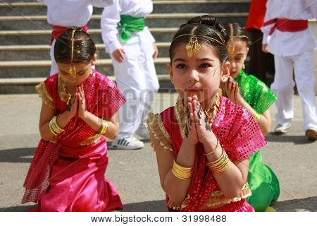 Students Dancing In Indian Costumes For 23 Nisal Children Festival