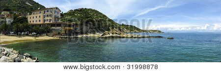 Panoramic View Of Emerald Coast In Sardinia
