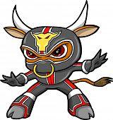 Постер, плакат: Bull ниндзя воин вектор