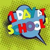 Back To School In Comic Speech Bubble, Pop Art Style. Education Concept. Comic Dialog Cloud, Space C poster