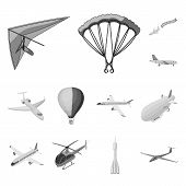 Isolated Object Of Transport And Object Symbol. Set Of Transport And Gliding Stock Symbol For Web. poster