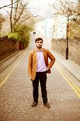 stock photo of mew  - Pakistani man in London Mews - JPG