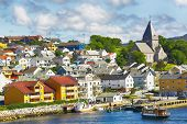 View Of The Norwegian Town Kristiansund In The Summer poster