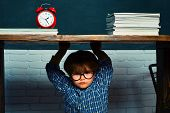 Back To School. Boy Student Getting Bullied In School. School Bullying. Educational Process poster