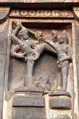 foto of ellora  - Religious carving on the Hindu Temple  - JPG