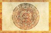 Постер, плакат: Майя пророчество на древнем пергаменте