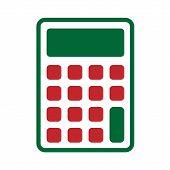 Calculator Icon Vector Illustration Design, Flat Calculator Icon - Vector poster