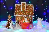 The Hand-made Eatable Gingerbread House, Marshmallow Snowman  In Mag, Mouse - Symbol Of Year 2020, N poster