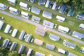 Caravan Site Park Aerial View Traveller Holiday Homes At Cloch Site Near Wemyss Bay poster