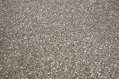 Brown Stone Grit Scree For Background. Brown Gravel Stone Texture, Granite Gravel, Rocks Crushed For poster
