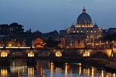 stock photo of apostolic  - The beautiful Vatican City in Rome at sunset - JPG