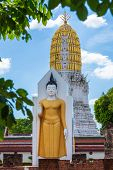 Buddha Statue At Wat Phra Si Rattana Mahathat Also Colloquially Referred To As Wat Yai Is A Buddhist poster