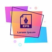 Purple Eps File Document. Download Eps Button Icon Isolated On White Background. Eps File Symbol. Co poster