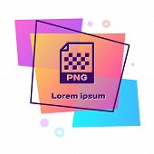 Purple Png File Document. Download Png Button Icon Isolated On White Background. Png File Symbol. Co poster