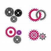 Gear Icon Vector Set, Machine Gear Icon Collection, Gear Icon Eps10, Gear Icon Vector Flat, Gear Ico poster