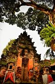 Balinese Hinduism Temple Gate In Ubud One Of The Most Crowded Religious Place In Bali Island Called poster
