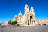 Marseille Cathedral Is A Roman Catholic Church And National Monument Of France In Marseille City poster
